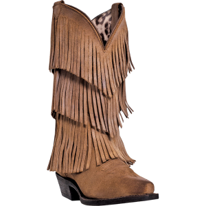 Tan Burnished Dingo Tres Fringe