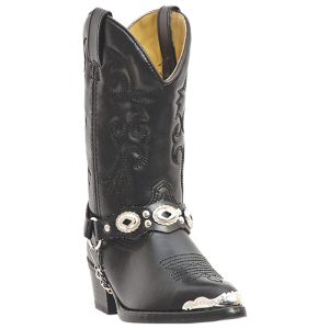 Black Leather Laredo Little Concho