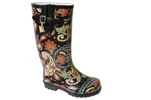 Paisley black/multi Nomad Puddles