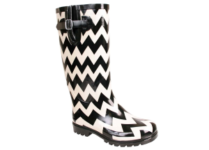 Black-White Chevron Nomad Puddles