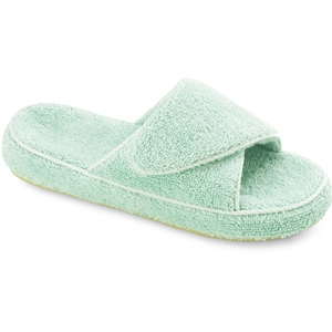 Seafoam Acorn Cotton Terry Slide
