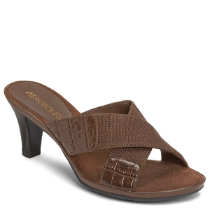 Brown Croco Aerosoles Love Powem