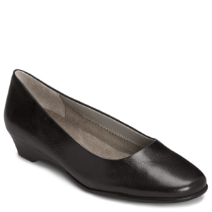 Black Leather Aerosoles Sotellite