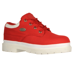 Red/White Lugz Drifter LO Ripstop