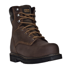 Dark Brown McRae 8 Inch Lace Up Steel Toe