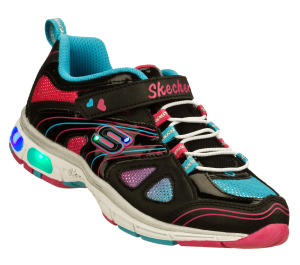 MultiBlack Skechers S Lights: Light Ray - Sparkle Party