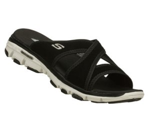 WhiteBlack Skechers Bravos - Outshine