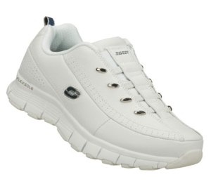 NavyWhite Skechers Flex Fit
