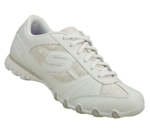 White Skechers Bikers - Fiesta