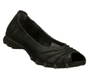 Black Skechers Bikers Scrunchy