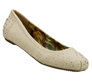 Natural Skechers Bobs Ballerinas - With Love