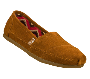 Brown Skechers Bobs Lux - Peace Sign