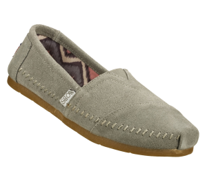 Gray Skechers Bobs Lux - Peace Sign