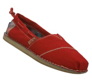 Red Skechers Bobs Chill