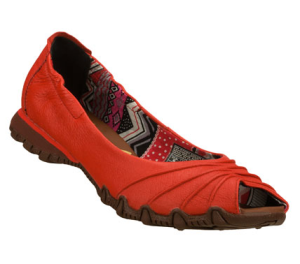 Red Skechers Bikers Scrunchy