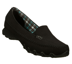 Black Skechers Relaxed Fit: Bikers - Cross Walk