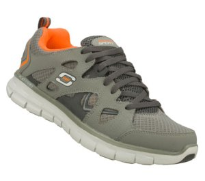 Orange Gray Skechers Synergy - Gridiron
