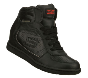 Black Skechers Work: SKCH Plus 3 SR - Fiend