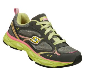 PinkGray Skechers Sporty Shorty: Lite Diamond