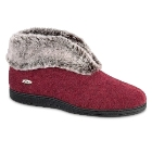 Berry Red Acorn Chinchilla Bootie II