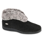 Acorn Chinchilla Bootie II Black
