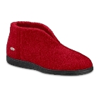 Deep Red Acorn Cozy Bootie