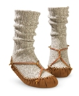 Grey/Wool Acorn Sherpa Slip Sock