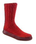 Acorn Slipper Sock Red Ragg