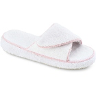 White Acorn Cotton Terry Slide