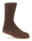 Coffee Bean Acorn Merino Slipper Sock