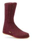 Cranberry Acorn Merino Slipper Sock