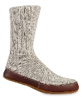 Grey Cotton Acorn Slipper Sock