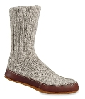 Acorn Slipper Sock Grey Wool
