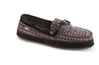 Burgandy Check Acorn Wool Camp Moc