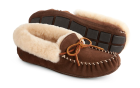 Dark Chocolate Acorn Sheepskin Moxie Moc