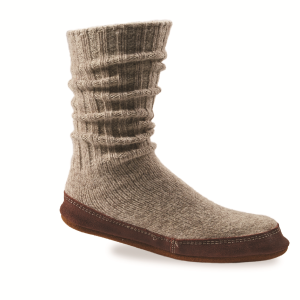 Light Grey Wagg Wool Acorn Slipper Sock