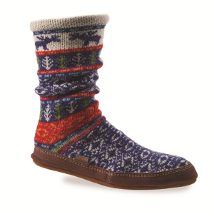 Maine Woods Jacquard Acorn Slipper Sock