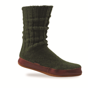 Pine Ragg Wool Acorn Slipper Sock