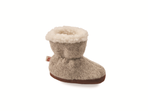 Grey Ragg Wool Acorn Easy Bootie Ragg