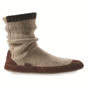 Grey Ragg Wool Acorn Slouch Boot