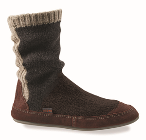 Charcoal Ragg Wool Acorn Slouch Boot