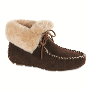 Dark Chocolate Acorn Sheepskin Moxie Bootie