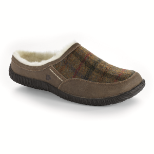 Acorn Rambler Mule in Olive Plaid
