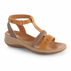 Fawn-Pewter Acorn Vista Wedge T-Strap