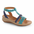 Navy-Sea Acorn Vista Wedge T-Strap