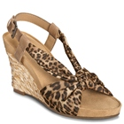 Aerosoles Plush Pillow Leopard Tan