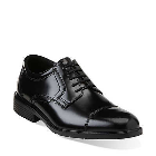 Bostonian Aland Cap Toe Black Leather