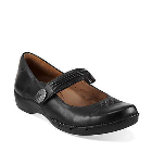 Clarks Un.Cedar Black Leather