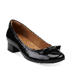 Clarks Charmed Bow Black Patent