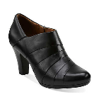 Clarks Society Gown Black Leather